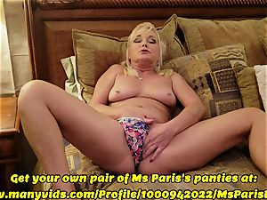 Ms Paris flashes Her Sold ManyVids g-string preparation