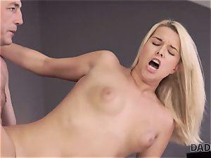 DADDY4K. daddy and youthfull lady love anal invasion fuck-a-thon near his sleeping sonny
