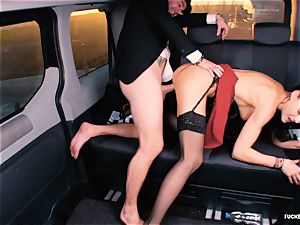 plumbed IN TRAFFIC - british Tina Kay humped in the car