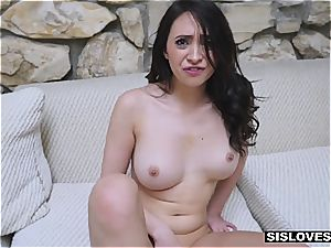 Stepsis make her fantasy of inhaling her bro's fat hard-on a reality
