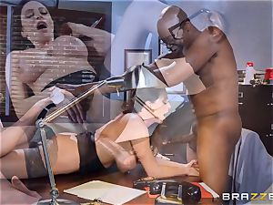 insane office joy with Ariella Ferrera