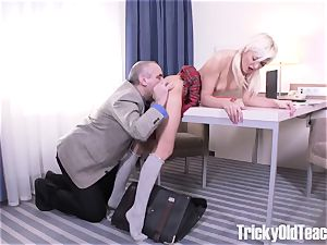 amazing pornography! Russian college girl gets smashed by her teacher
