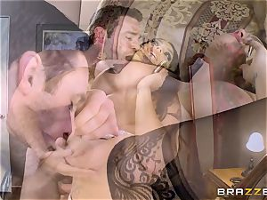 huge boobed Alison Tyler pulverizes her lover as she speaks to her stud