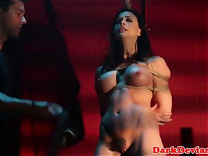 flagellated Chanel Preston penetrated while tiedup