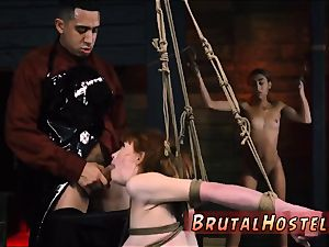 Morning man-meat masturbation He chains up lil' dark-hued nubile Kendall and makes her