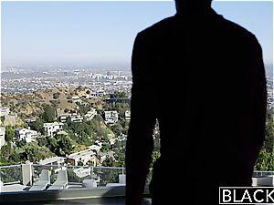 BLACKED towheaded girlfriend Alli Rae loves black jizz-shotgun