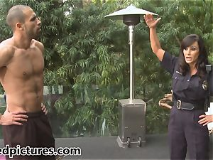 big-titted cop Lisa Ann gives out her manstick penalty