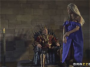 Daenerys Targaryen gets torn up by Jon Snow on the metal Throne
