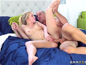 platinum-blonde ultra-cutie Bailey Brooke railing on top