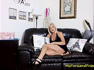 jizz on Mommy's breasts with Ms Paris Rose