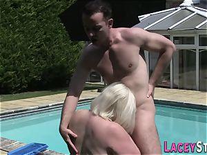 grandma penetrates the Pool Cleaner indeed stiff