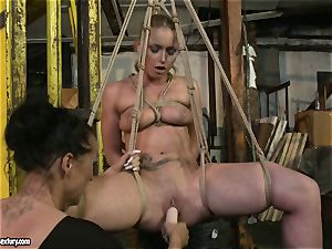 Kathia Nobili and Mandy Bright dildo plumbing stiff