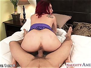 redhead bombshell Ashlee Graham kneads her wooly fuck-hole