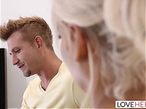 LoveHerFeet - large breasts Bridgette Gives a professional FootJob