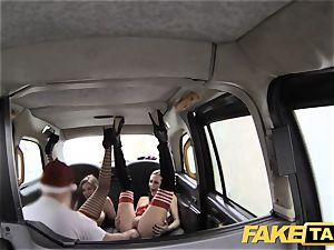 faux taxi Xmas theme special santa assfuck pulverizes two elves