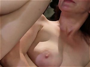 shy waitress Penny Pax pulverizes her fantasy client