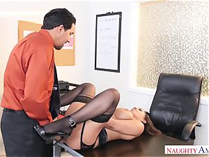 Office tramp Priya Price with fat bosoms luvs rock hard hard-ons
