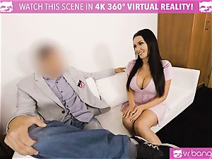 VR pornography - Thanksgiving Dinner becomes a nasty three way