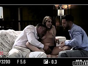pure TABOO babe Tricked Into vengeance three-way with Strangers