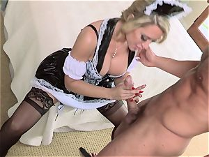 sizzling maid Capri Cavanni gives her chief some extras