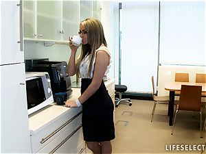 romp in the Office with Aletta Ocean and Brandy sneer