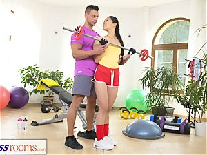 fitness apartments hard-core gym poking and facial