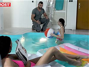 LETSDOEIT - sonny penetrates StepMom And sister At The Pool