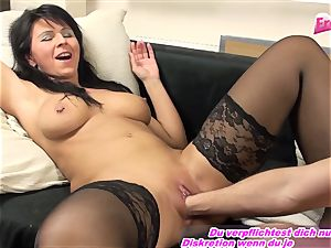 GERMAN milf fisting very first time utter palm in beaver