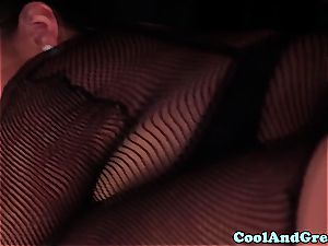 outstanding Adrianna Luna and Chloe Amour make out after 3 way