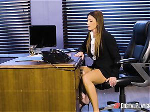 India Summers and Sunny Lane twat tribbing activity in the office