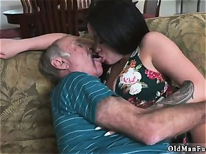 elderly dude young doll hard-core Frannkie s a hasty learner!