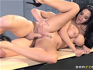 chesty professor Ava Addams is ravaged by her college girl