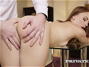 nasty college tramp Kira gets spanked and nailed by her teacher