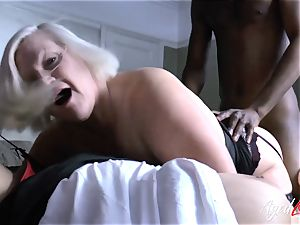 AgedLovE Lacey Starr bi-racial 3some